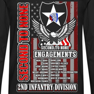 2nd Infantry division - Second to none engagements - Men's Premium Long Sleeve T-Shirt