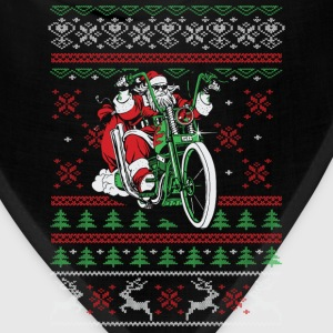 Biker - Santa riding a bike christmas sweater - Bandana