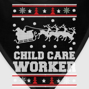 Child care worker - Awesome christmas sweater tee - Bandana