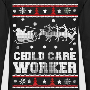 Child care worker - Awesome christmas sweater tee - Men's Premium Long Sleeve T-Shirt