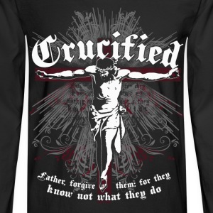 Crucified -Father forgive them for they know jesus - Men's Long Sleeve T-Shirt