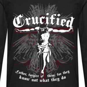 Crucified -Father forgive them for they know jesus - Men's Premium Long Sleeve T-Shirt