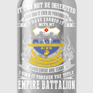 Empire battalion - I've earned it with blood tee - Water Bottle