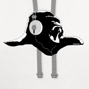 Gorilla with headphones T-Shirts - Contrast Hoodie