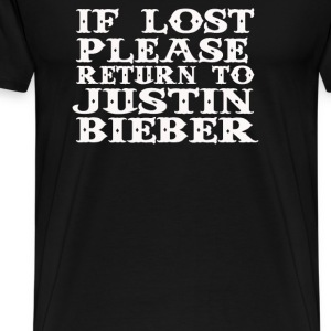If lost please return - Men's Premium T-Shirt