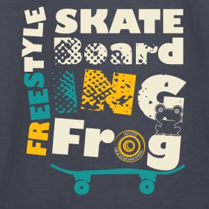 Skate Boarding Frog Hoodies - Kids' Long Sleeve T-Shirt