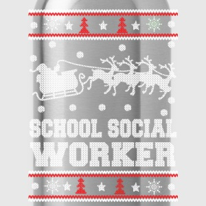 funny school social worker - Water Bottle