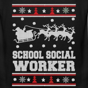 funny school social worker - Men's Premium Tank