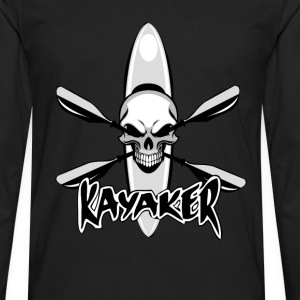 Kayaker - Awesome skull t-shirt for kayaker - Men's Premium Long Sleeve T-Shirt