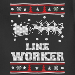 Line worker - Lineman Ugly christmas sweater - Adjustable Apron