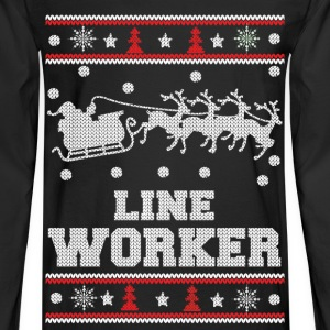 Line worker - Lineman Ugly christmas sweater - Men's Long Sleeve T-Shirt