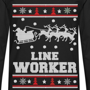 Line worker - Lineman Ugly christmas sweater - Men's Premium Long Sleeve T-Shirt