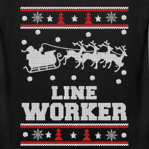 Line worker - Lineman Ugly christmas sweater - Men's Premium Tank