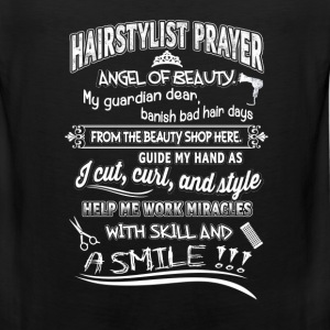 Hair stylist - Angel of beauty guide my hand tee - Men's Premium Tank