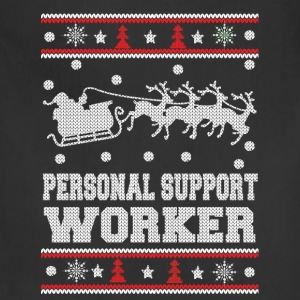Personal support worker - Cool Christmas sweater - Adjustable Apron