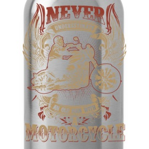 Motorcycle - Never underestimate an old motorcycle - Water Bottle