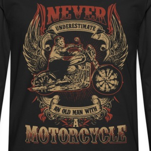 Motorcycle - Never underestimate an old motorcycle - Men's Premium Long Sleeve T-Shirt