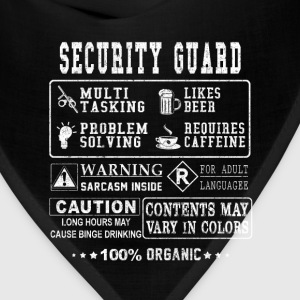 Security guard - Ugly t-shirt for security guard - Bandana