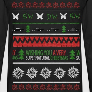 Supernatural - I Wish you a very supernatural xmas - Men's Premium Long Sleeve T-Shirt