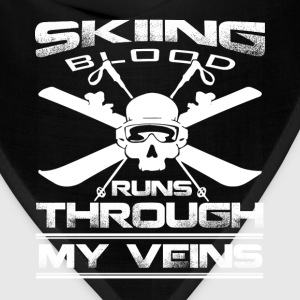 Skiing - The blood runs through my veins t-shirt - Bandana