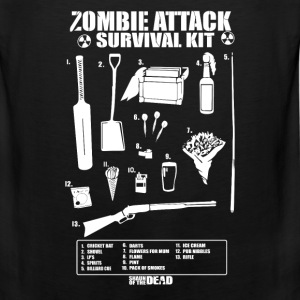 Zombie - Cool Zombie attack survival kit t-shirt - Men's Premium Tank