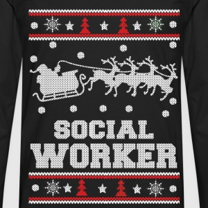 Social worker - Awesome christmas worker sweater - Men's Premium Long Sleeve T-Shirt