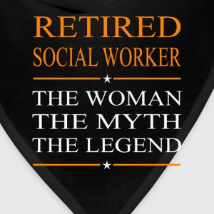 Social worker - The woman the myth the legend tee - Bandana