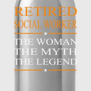 Social worker - The woman the myth the legend tee - Water Bottle