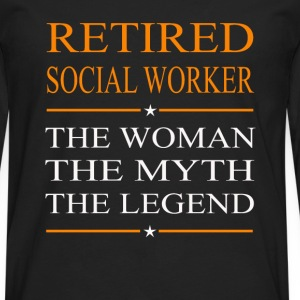 Social worker - The woman the myth the legend tee - Men's Premium Long Sleeve T-Shirt