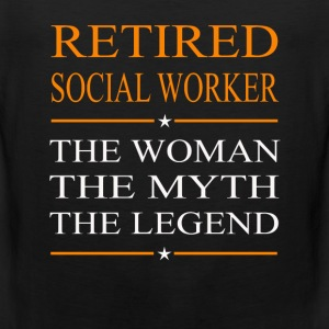Social worker - The woman the myth the legend tee - Men's Premium Tank