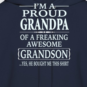 Proud Grandpa Of A Freaking Awesome Grandson - Men's Hoodie