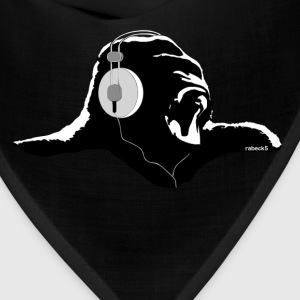 Silverback with headphones - Bandana