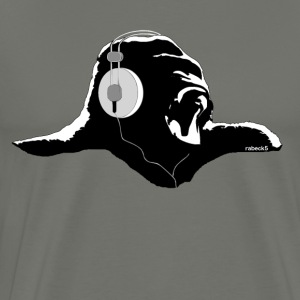 Silverback with headphones - Men's Premium T-Shirt