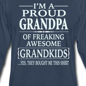 Proud Grandpa Of A Freaking Awesome Grandkids - Men's Premium Long Sleeve T-Shirt