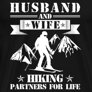 Husband And Wife Skiing Partners - Men's Premium T-Shirt
