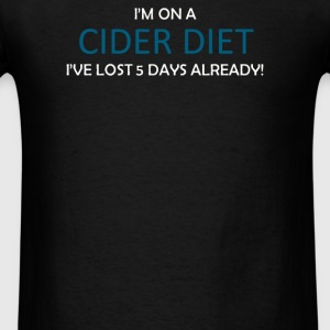 CIDER DIET Five Days already - Men's T-Shirt