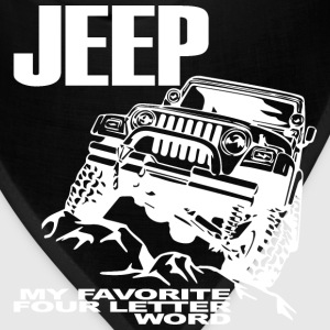 Jeep - 4 Letter Word - White - Bandana