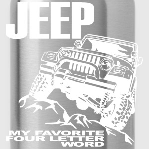 Jeep - 4 Letter Word - Water Bottle