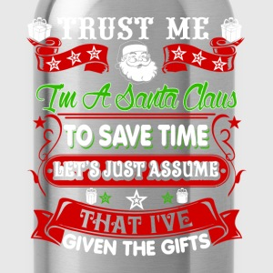 Trust Me,I'm A Santa Claus Mens Hoodies - Water Bottle