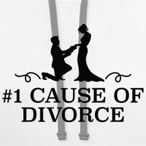 Number 1 Cause Of Divorce - Contrast Hoodie