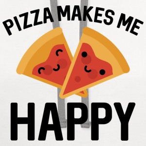 Pizza Makes Me Happy - Contrast Hoodie