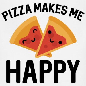 Pizza Makes Me Happy - Adjustable Apron