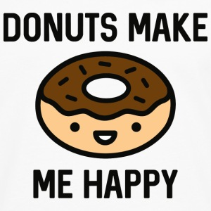 Donuts Make Me Happy - Men's Premium Long Sleeve T-Shirt