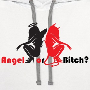 Angel or Bitch - Contrast Hoodie