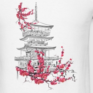 Pagoda and sakura Tanks - Men's T-Shirt