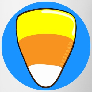 Candy Corn on a Blue Button - Coffee/Tea Mug