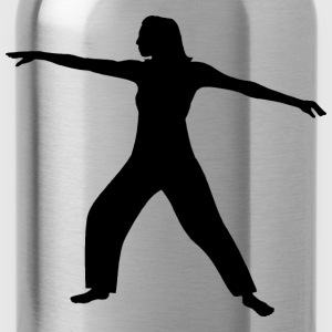 Tai Chi Woman Silhouette - Water Bottle