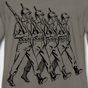 Soldiers marching - Men's Premium Long Sleeve T-Shirt