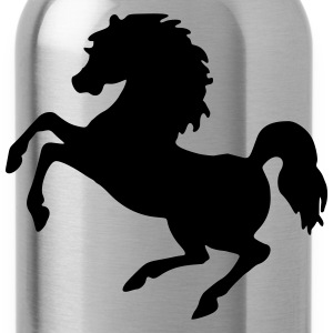 Rearing horse (silhouette) - Water Bottle