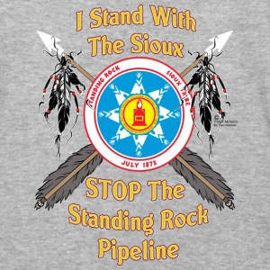 Standing Rock Sioux Shield & Crossed Arrows - Baseball T-Shirt